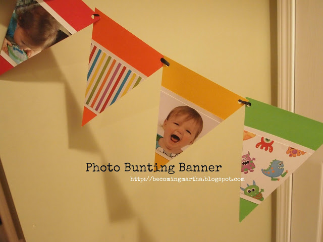 Photo Bunting Banner {Monster Party}