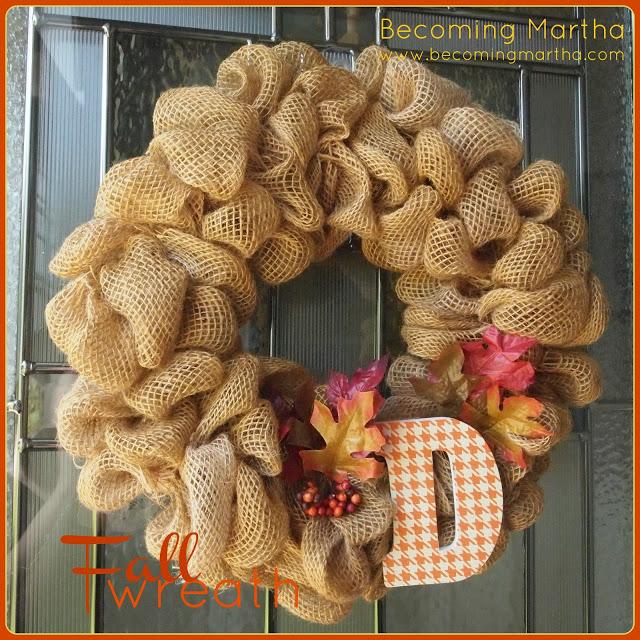 An Autumn / Fall Wreath