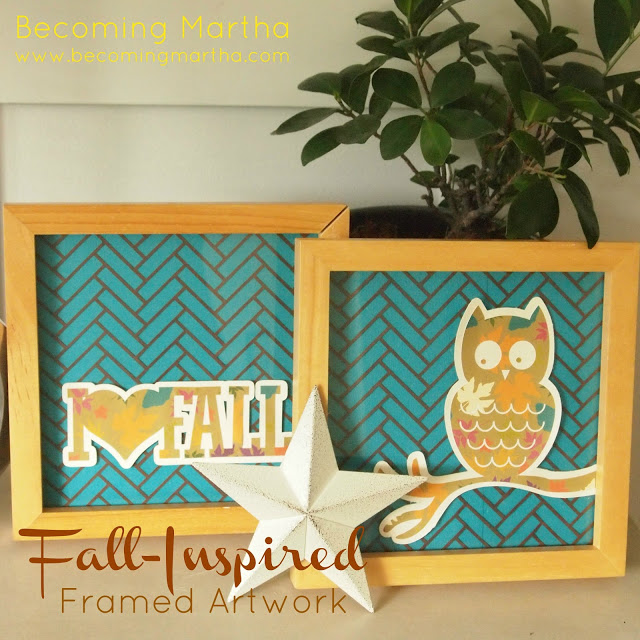 Framed Fall Art – Created with Silhouette and Cardstock