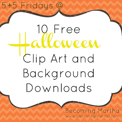 {5+5 Friday} 10 Great Halloween Clip Art and Graphic Freebies