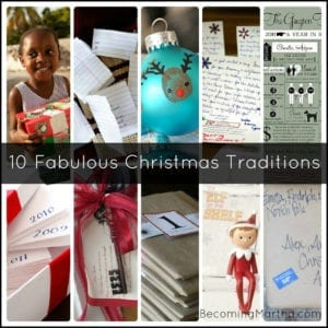 {5+5 Friday) 10 Great Christmas Traditions to Start