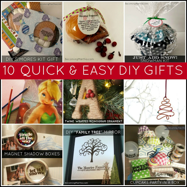 10 Quick and Easy Last Minute DIY Gifts