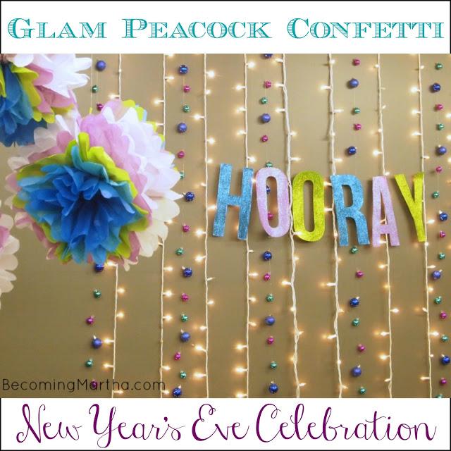 A Glam Peacock Confetti Celebration