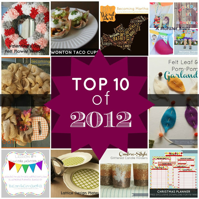 Top 10 Projects and Tutorials of 2012