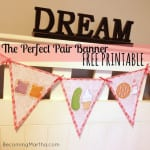 perfect pair banner printable