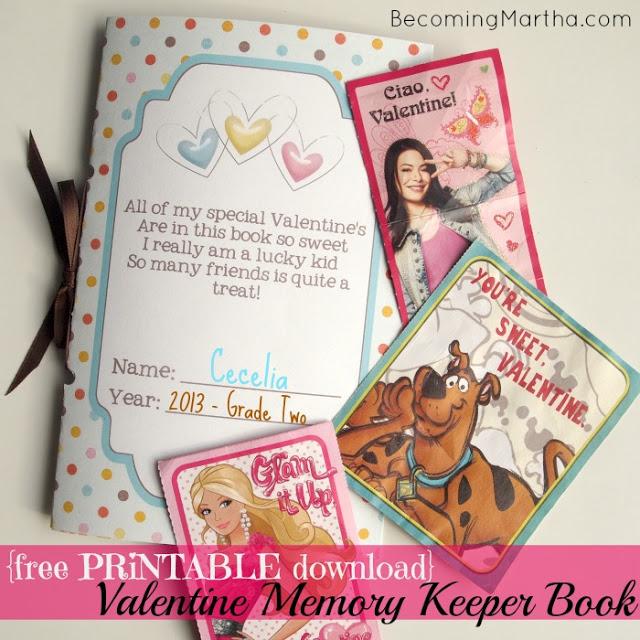 valentines keepsake memory book