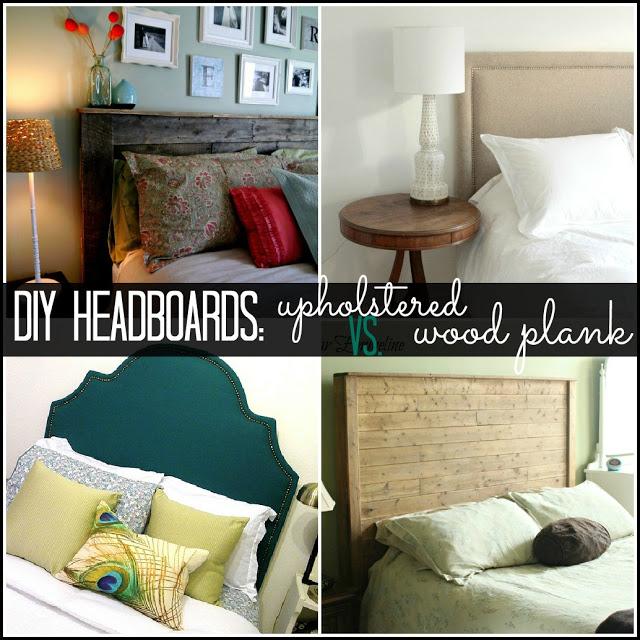DIY Headboard Ideas - Upholstered or Wood Plank: Becoming Martha
