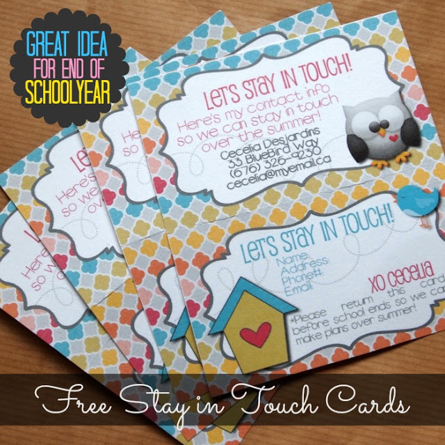 Let's Stay in Touch Cards – 2013 Version