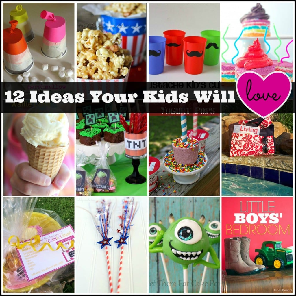 12 fun ideas for kids via createcraftlove.com #kidsactivities #summer
