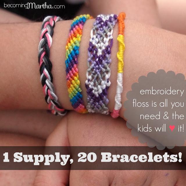 1 Supply, 20 Friendship Bracelet Tutorials
