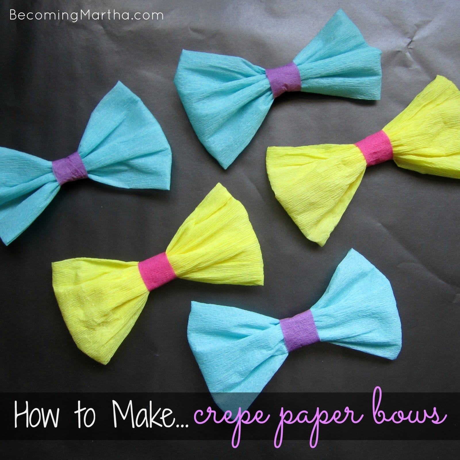 Crepe Paper Bows and A Move to Word Press!