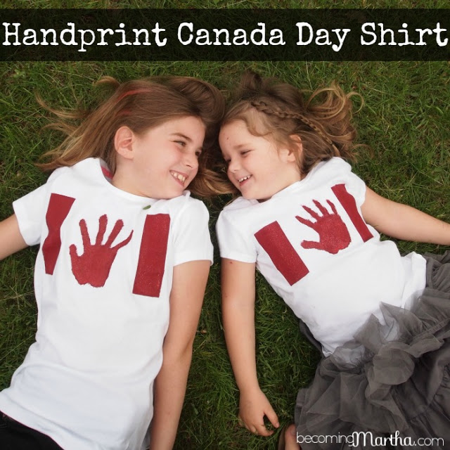Handprint Canada Day Flag Shirts