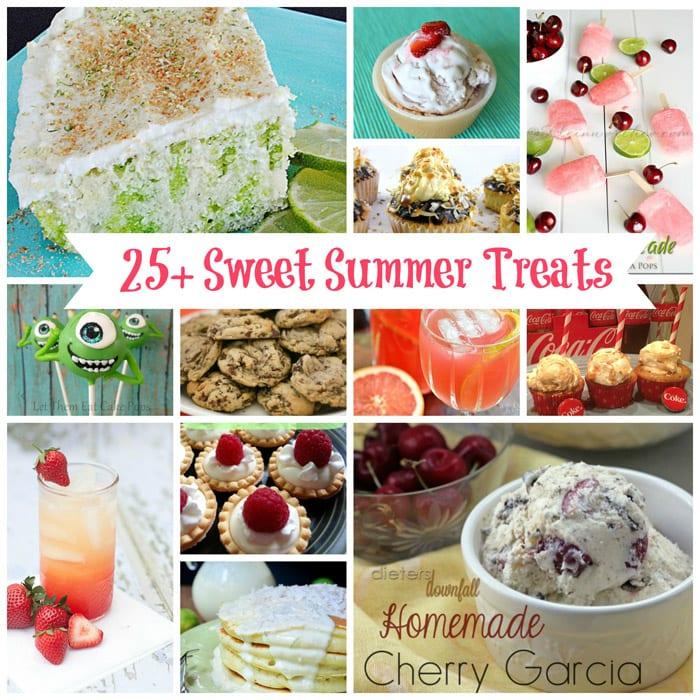 25+ Sweet Summer Treats from createcraftlove.com #summer #recipes #desserts #features