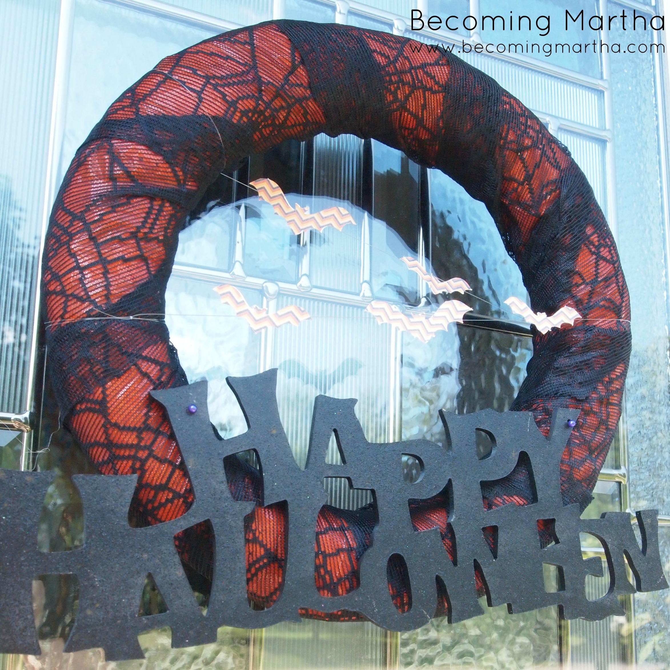 Spiderweb Lace Halloween Wreath