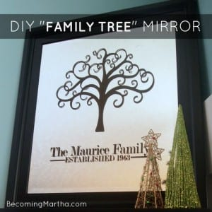 DIY Family Tree Mirror