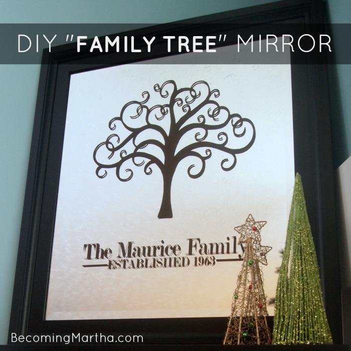DIY Family Tree Mirror