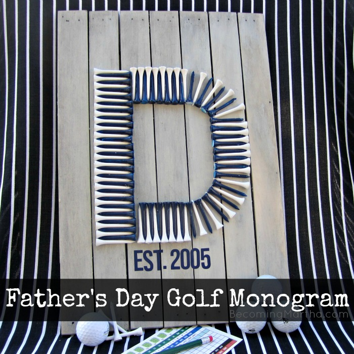 Father's Day Golf Monogram Pallet Art #cbias