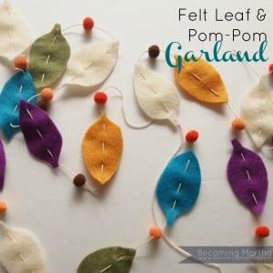 Felt Leaf & Pom-Pom Garland