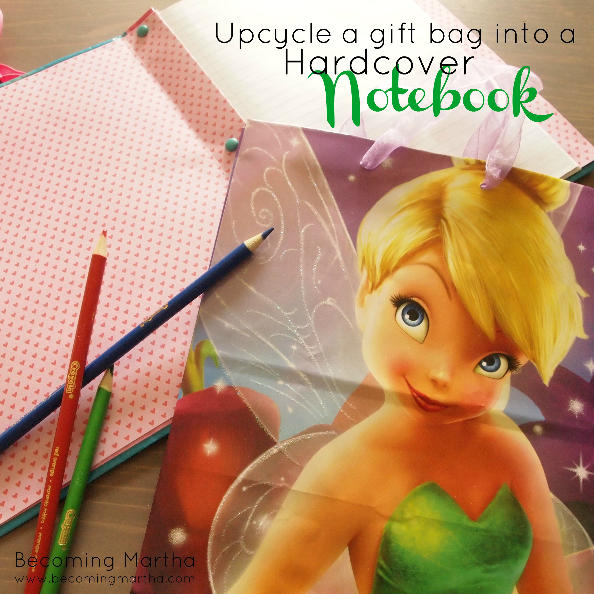 Upcycle Gift Bags into Hardcovered Notebooks