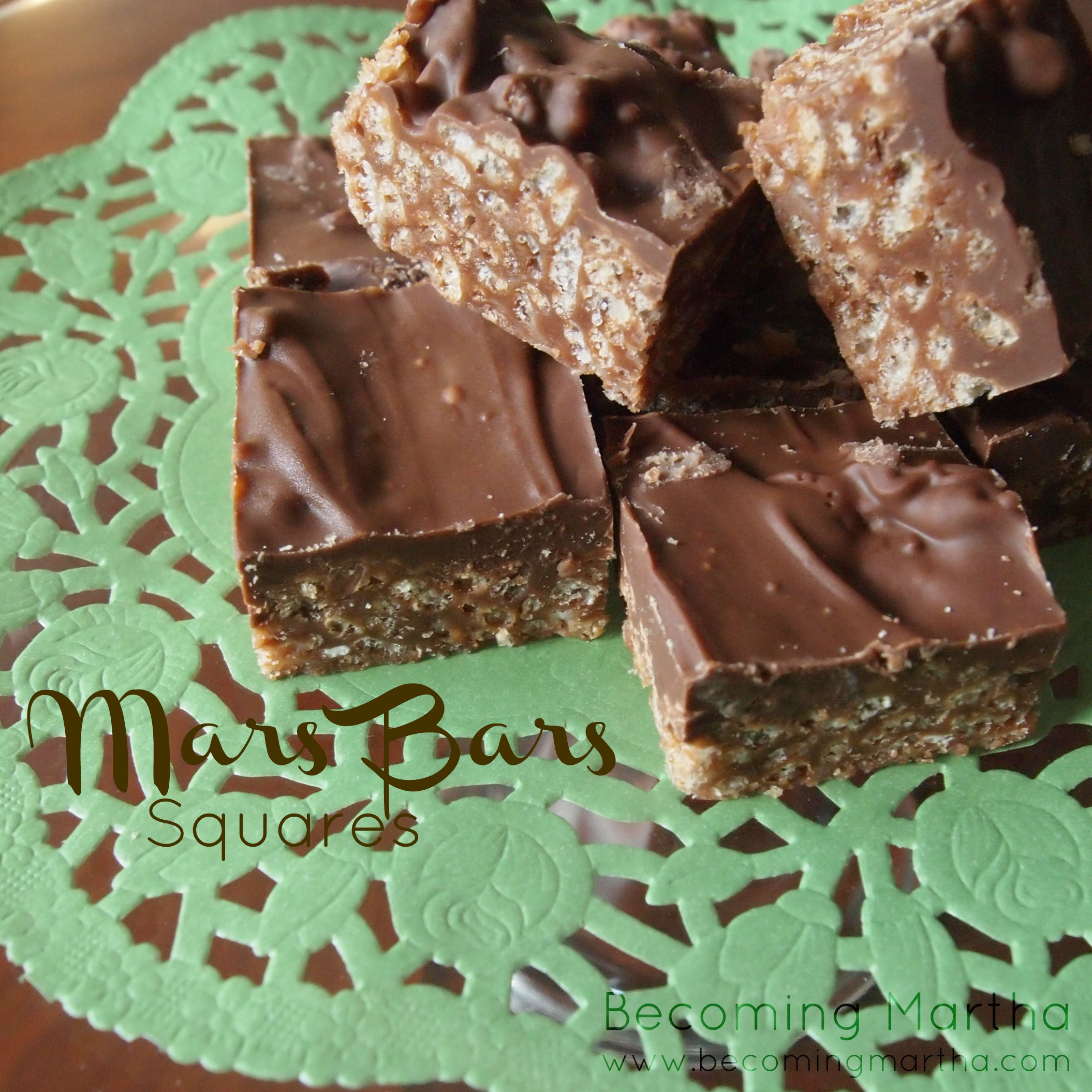 {Just Like Mom Made} Mars Bars Squares