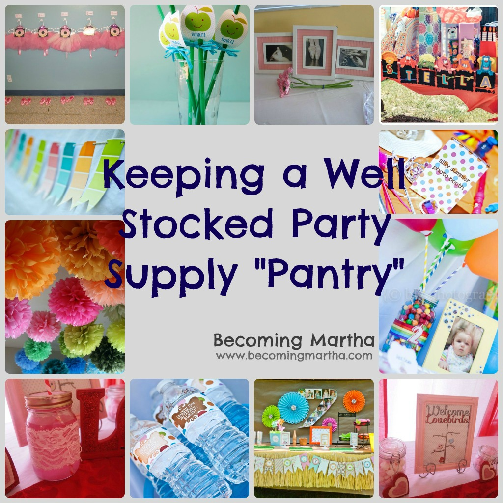 Keeping A Well Stocked Party Pantry
