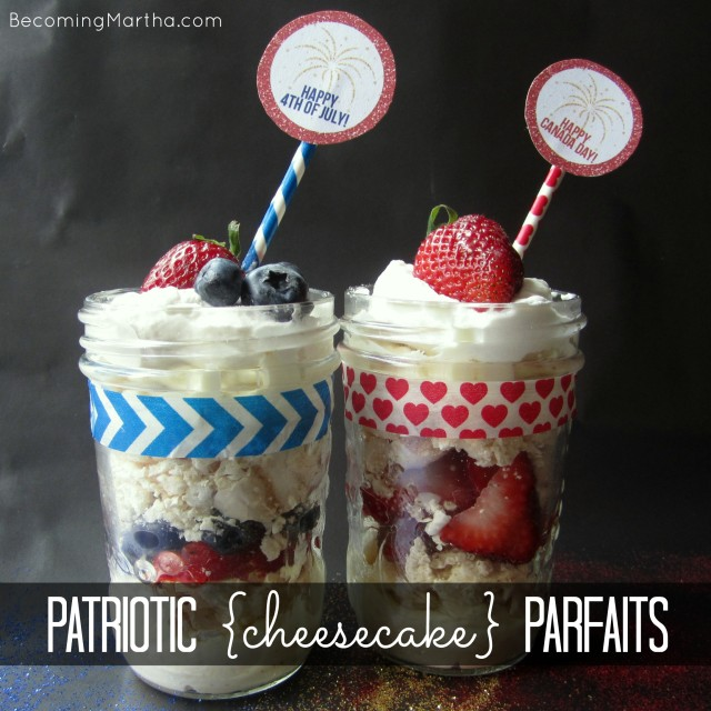 Patriotic Cheesecake and Meringue Parfaits for Canada Day or 4th of July