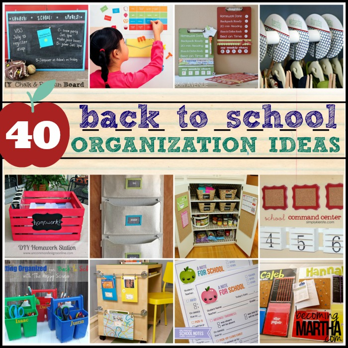 40 back to school organization ideas the simply crafted life - Back to school organization ...