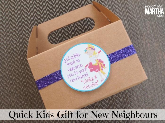 New Neighbor Gift for Kids {with Printable Tags}