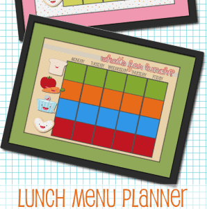 School Lunch Planner {Free Printable}