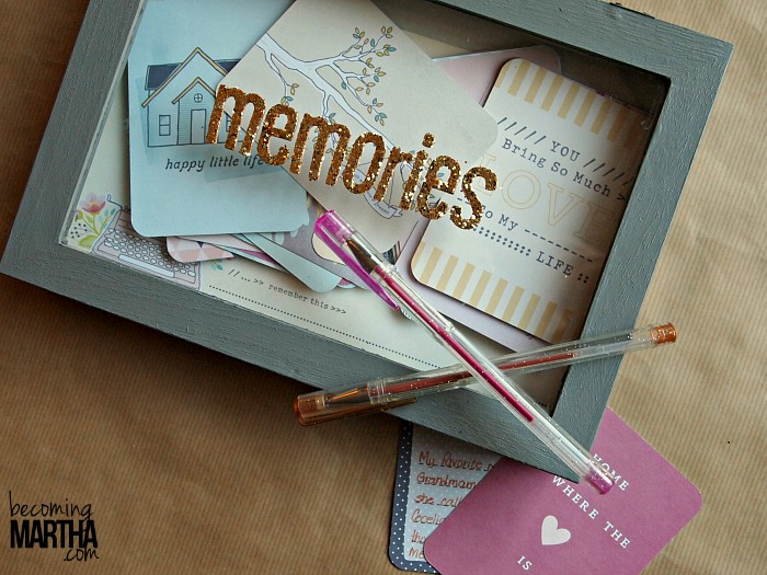 Memory Box Guestbook {Using Project Life Cards}