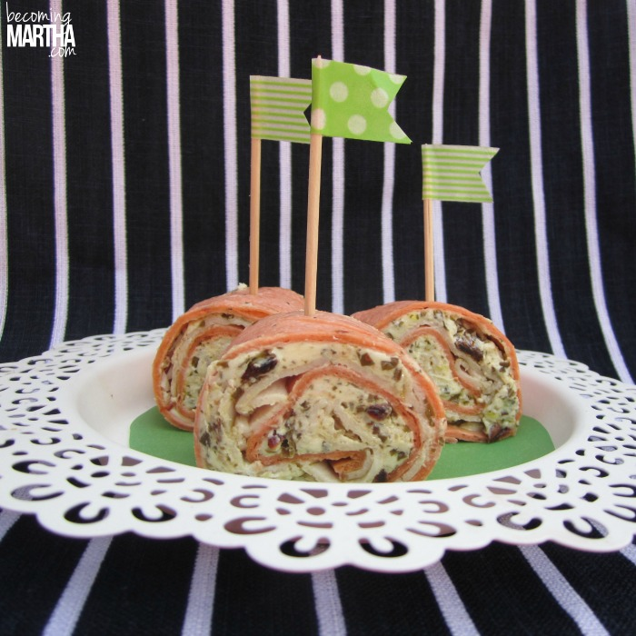 sundried tomato turkey pesto pinwheel