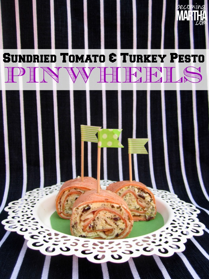 sundried tomato turkey pesto pinwheels