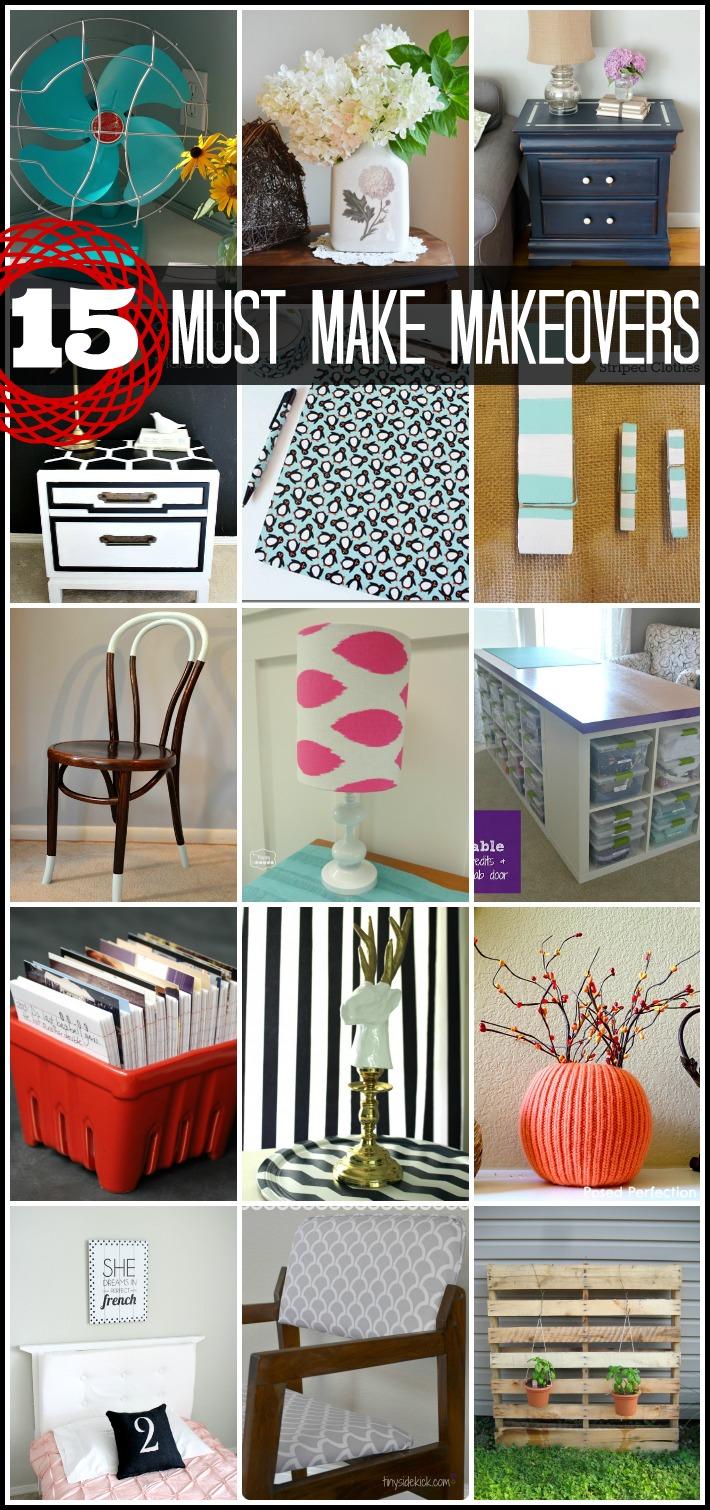 15 Home Makeover Ideas via createcraftlove.com #linkparty #features #home