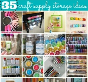 "35 ""Crafty"" Craft Supply Storage Ideas"