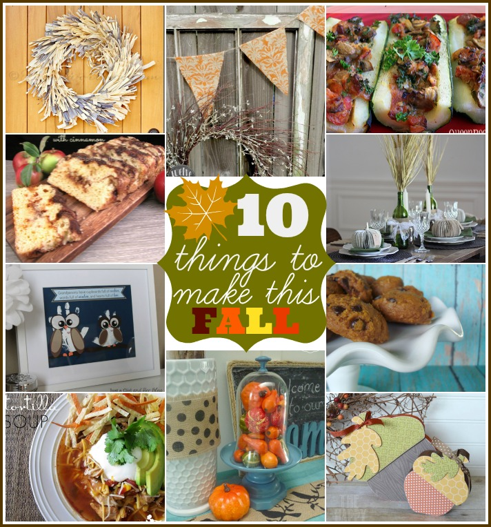 10 Things to Make for Fall via www.waittilyourfathergetshome.com #fall #craft #diy