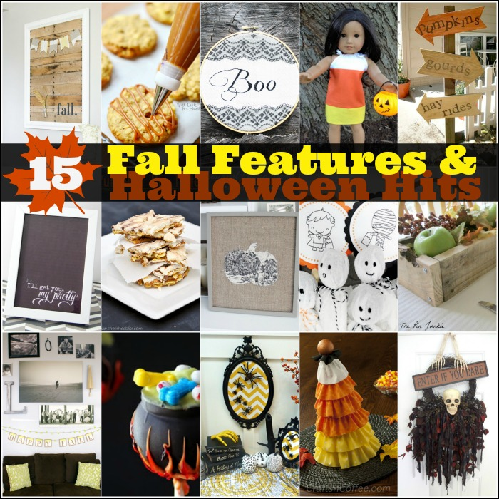 Check out these 15 Fall and Halloween Ideas!! #features #fall #halloween #linkparty
