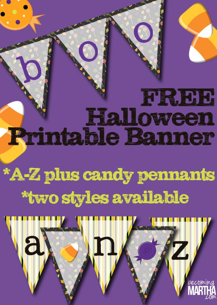 Printable Halloween Banner (x2!)