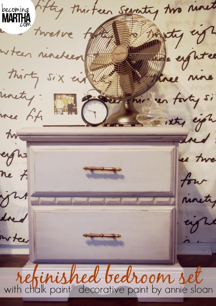 Thrifted Bedroom Set Makeover