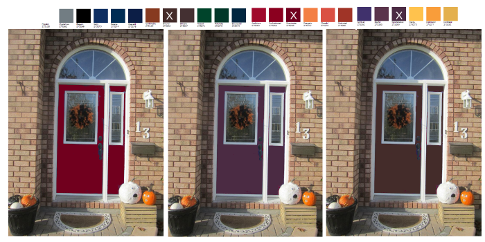 the evolution of a door - how to choose a color for your front door