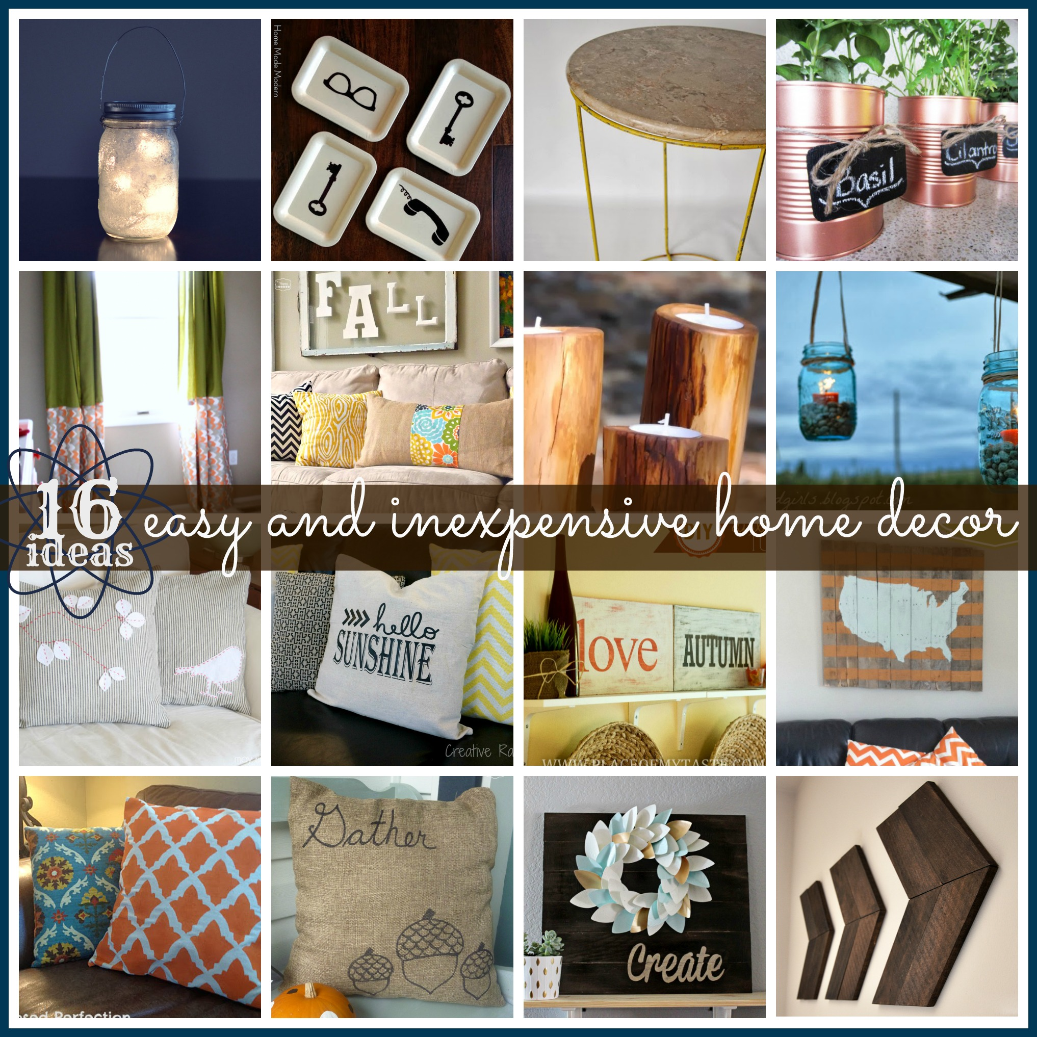 16 Easy Home Decor Ideas for inspiration after the holidays! #features #homedecor