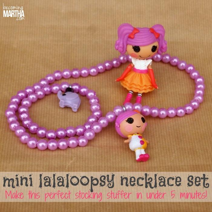 Mini Toy Lalaloopsy Necklace and Bracelet Set Stocking Stuffer