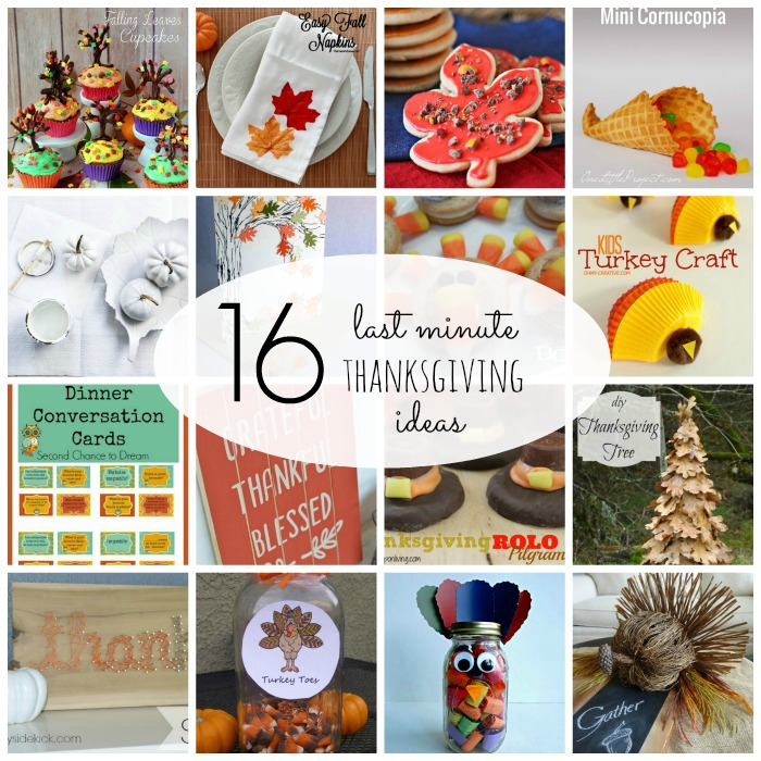 16 Last Minute Thanksgiving Ideas {Must Pin Projects}