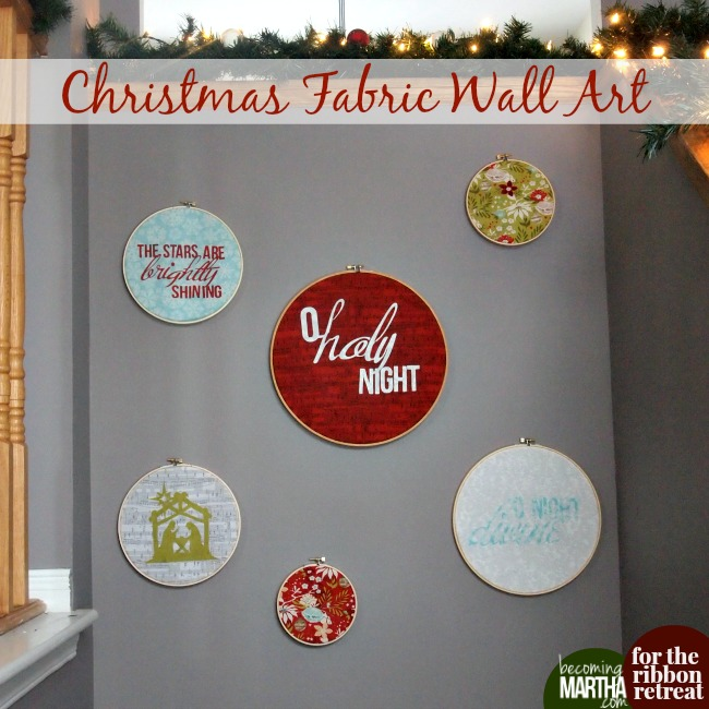 No Sew Christmas Fabric Wall Art