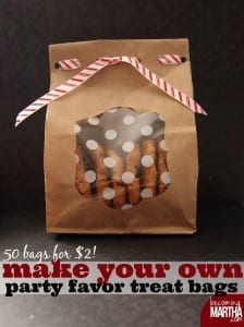 Make Your Own Party Favor Treat Bags for $2!