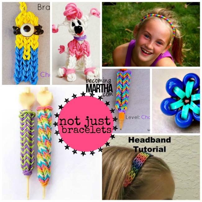 40+ Rainbow Loom Tutorials and Ideas - Becoming Martha