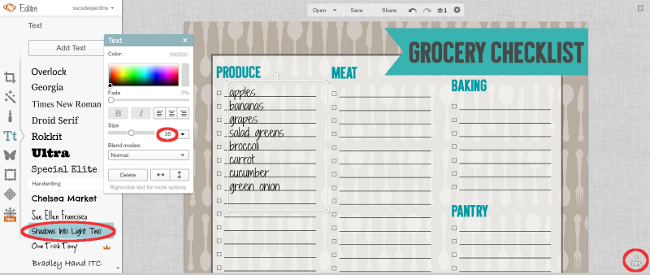 Printable Grocery Shopping Checklist from Becoming Martha