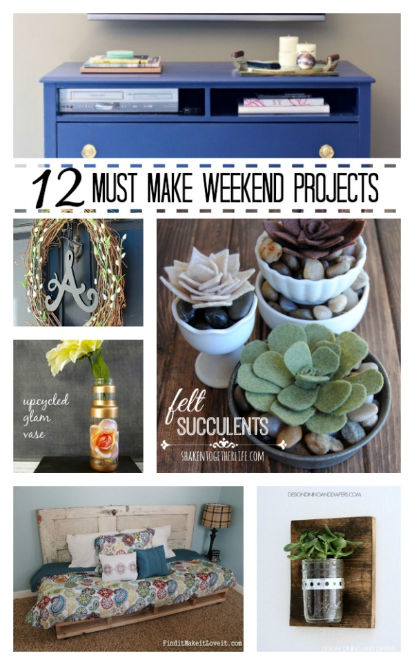12 Weekend DIY Projects {Must Pin Projects}