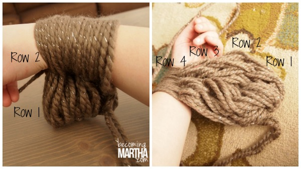 Arm Knitting Step By Step : Arm knitting an infinity scarf the simply crafted life