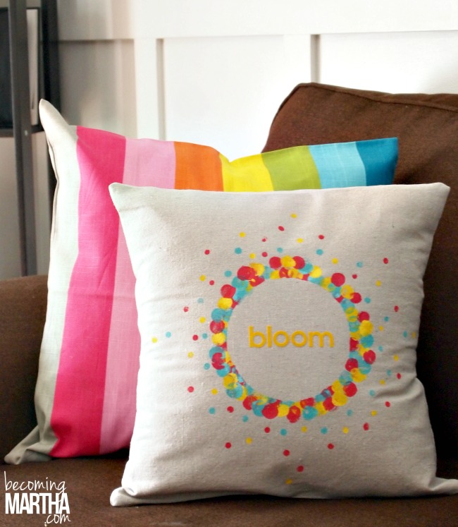 Add A Touch Of Spring To Your Home With Easy Drop Cloth Envelope Pillows