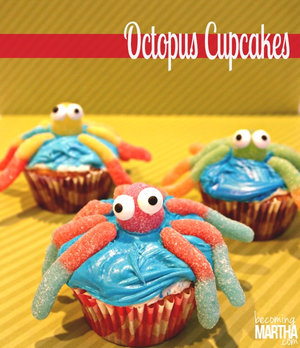 Octopus Cupcakes - So simple and easy to create!